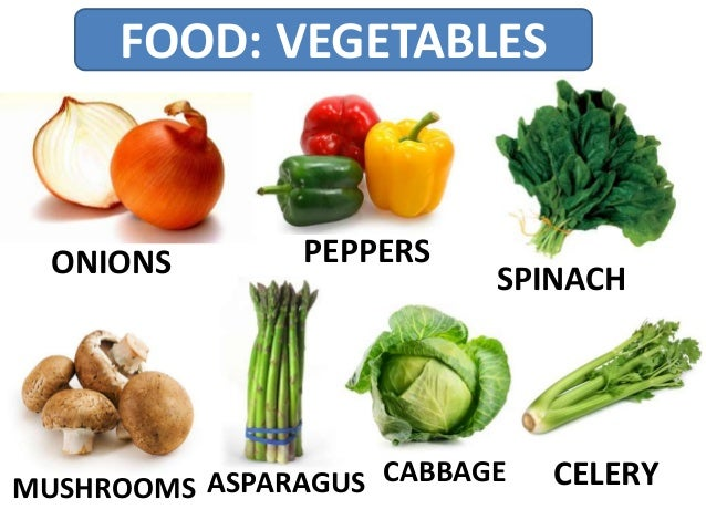 FOOD: VEGETABLES ONIONS MUSHROOMS PEPPERS SPINACH CELERYCABBAGEASPARAGUS