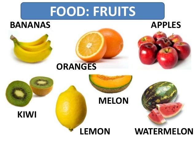FOOD: FRUITS BANANAS ORANGES APPLES KIWI LEMON MELON WATERMELON