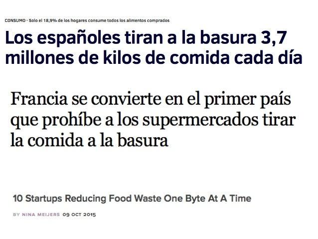 Hack Your Waste Food , No tires alimentos. Slide 3
