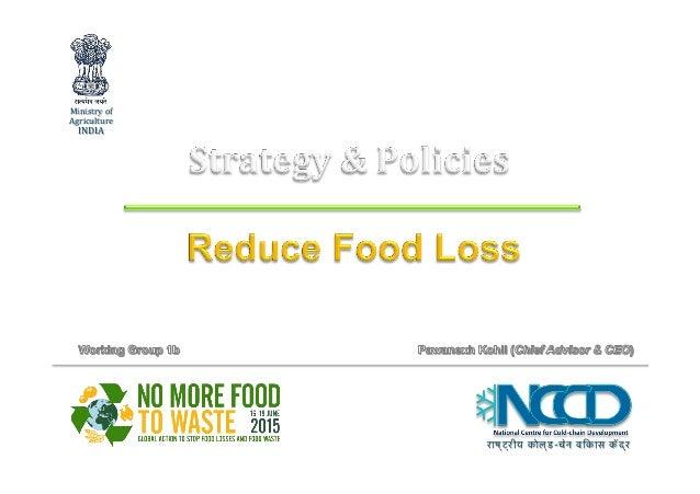 राष्ट्रीय कोल्ड-चेन विकास केंद्र Ministryof Agriculture INDIA