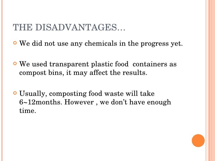 disadvantages of food waste