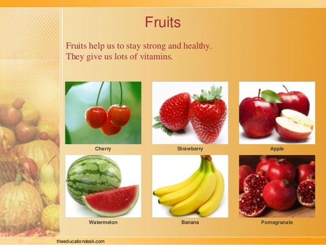 The foods we eat