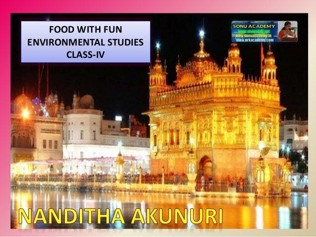 FOOD WITH FUN ENVIRONMENTAL STUDIES CLASS-IV