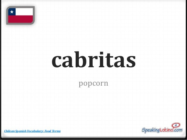food words in spanish chile spanish words flashcards