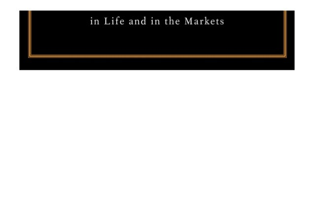 E Book Fooled By Randomness The Hidden Role Of Chance In Life And
