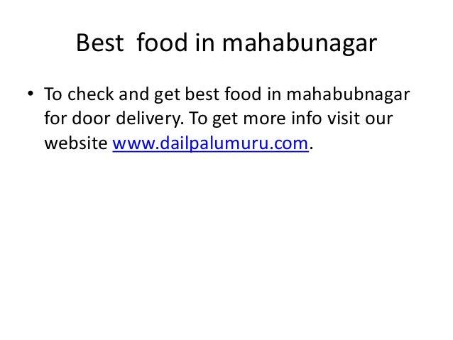 Door Delivery Food Mahabubnagar