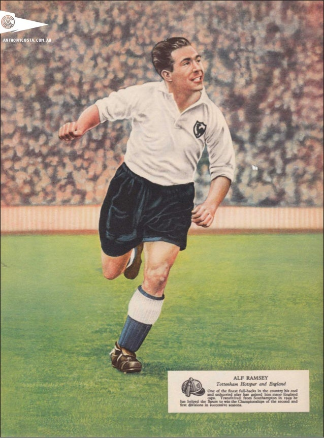 vintage 1950s english football art