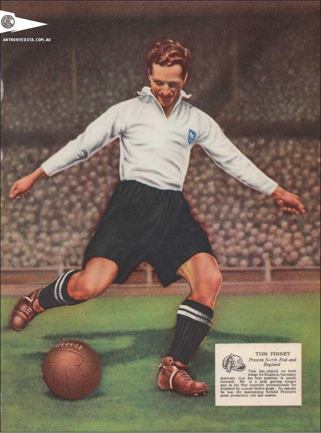 Vintage 1950s English Football Art Slide 2