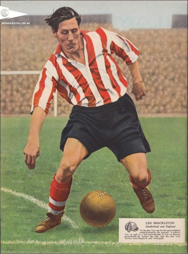 Vintage 1950s English Football Art Slide 3