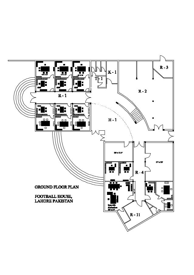Football House Layout 1 Model