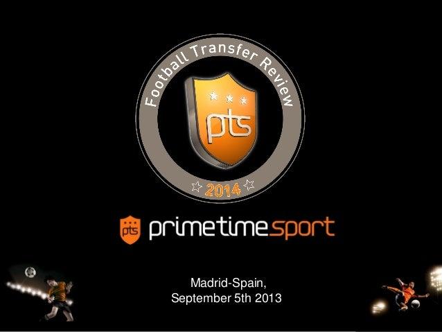 1 Madrid-Spain, September 5th 2013-