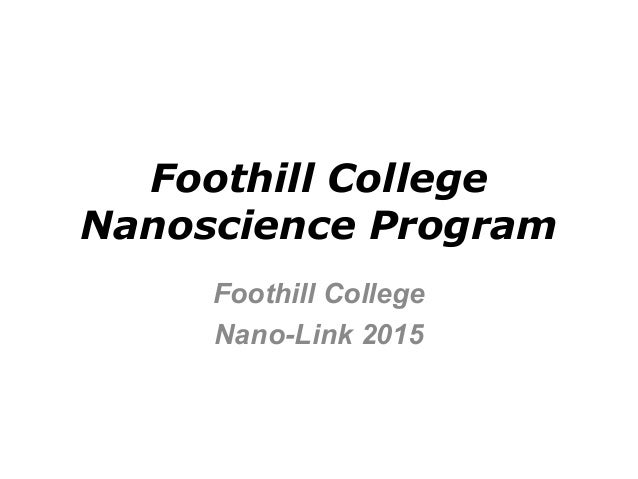 Foothill college nanoscience program