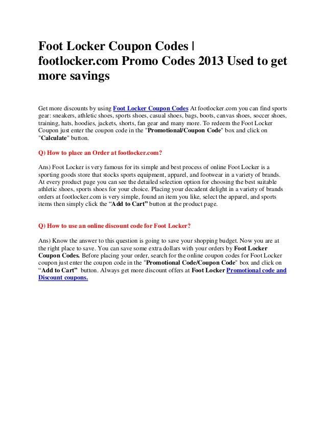 photograph about Foot Locker Printable Coupons identify FootLocker Discount codes Foot Locker Coupon Codes footlocker