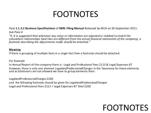 format of footnotes Chicago citation style: footnotes and bibliography last updated: september 10, 2010 the politics department has adopted the chicago citation format for footnotes in academic papers the chicago citation style is the method established by the university of chicago press for documenting sources used in a research paper and is probably the most commonly used footnote format.
