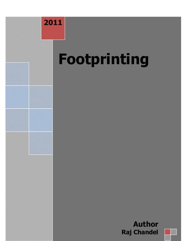 2011  Footprinting  Author Raj Chandel