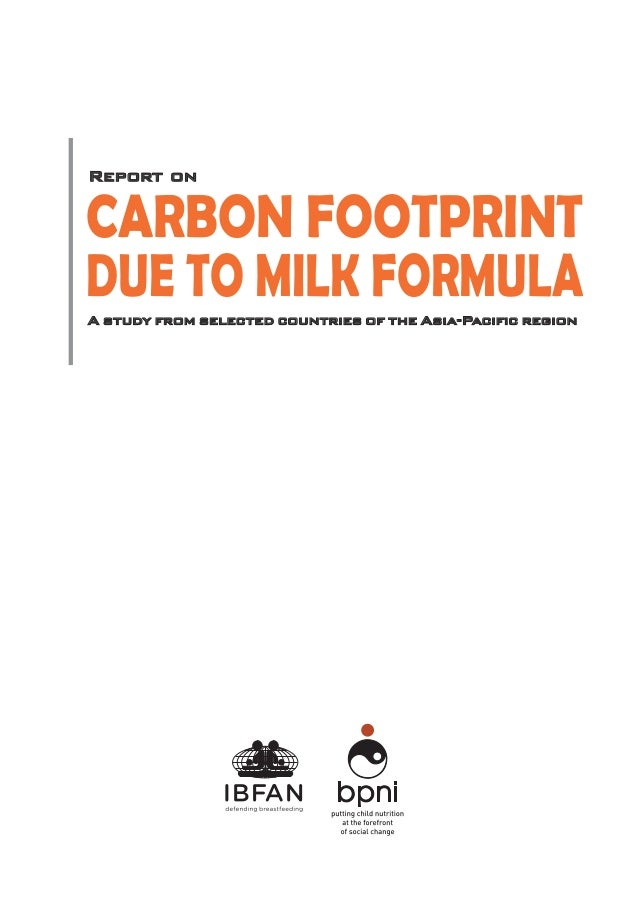 Footprints due to milk formula a study from selected countries of the asia pacific Slide 3