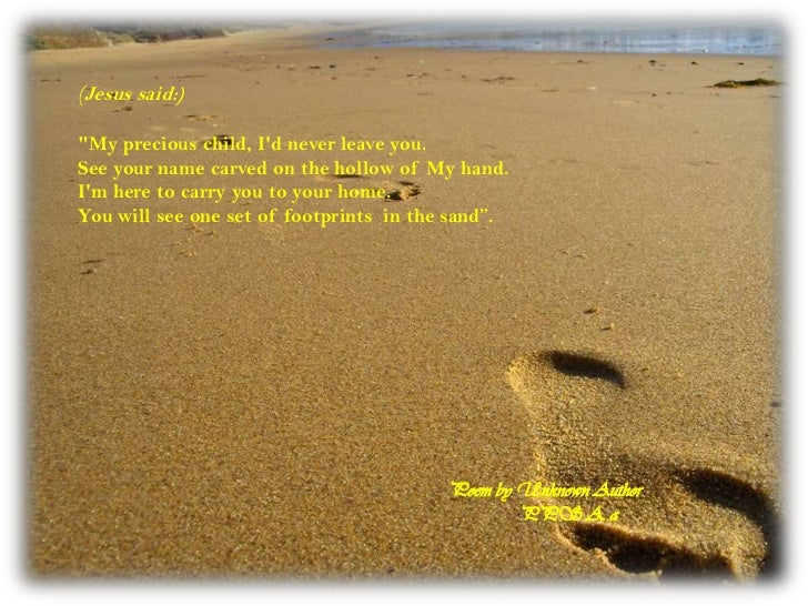 Image result for footprints in the sand poem