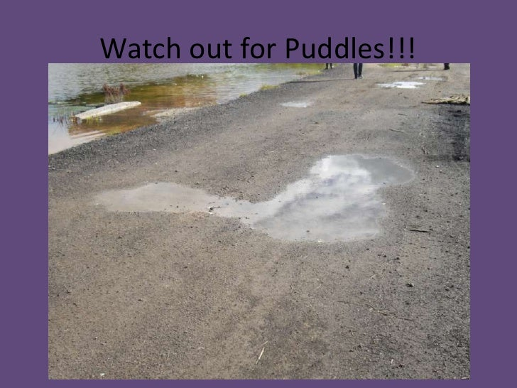 Watch out for Puddles!!!<br />