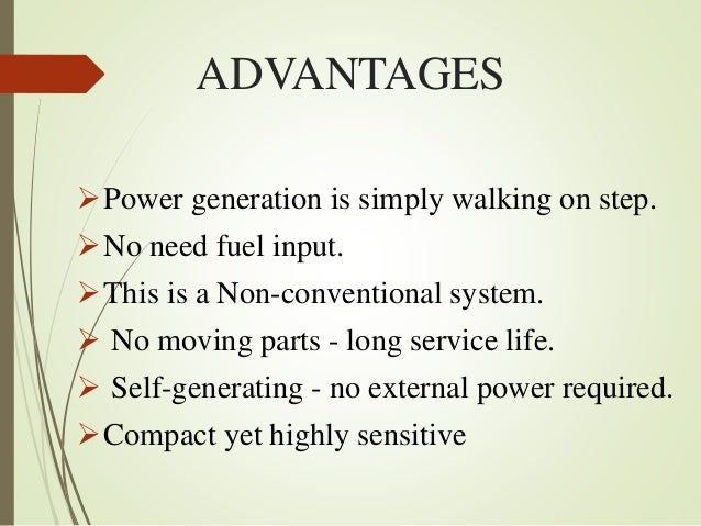 Foot Step Power Generation Ppt