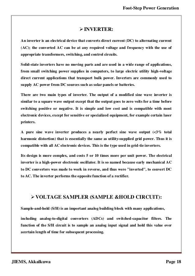 Foot step power generation(REPORT)   pdf