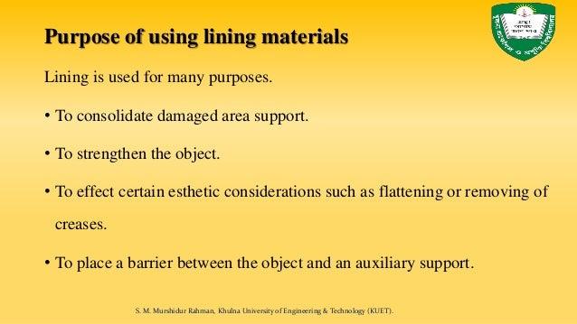 Footwear lining materials Slide 3