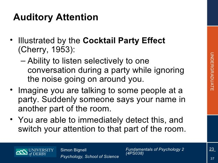cocktail party effect provides an example of