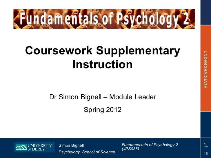 Coursework Supplementary                                                                    UNDERGRADUATE       Instructio...