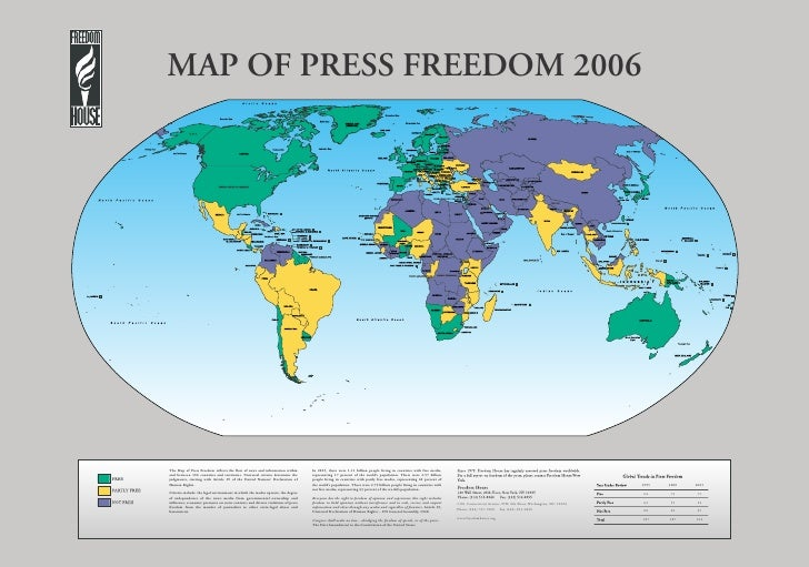 MAP OF PRESS FREEDOM 2006     The Map of Press Freedom reflects the flow of news and information within        In 2005, th...