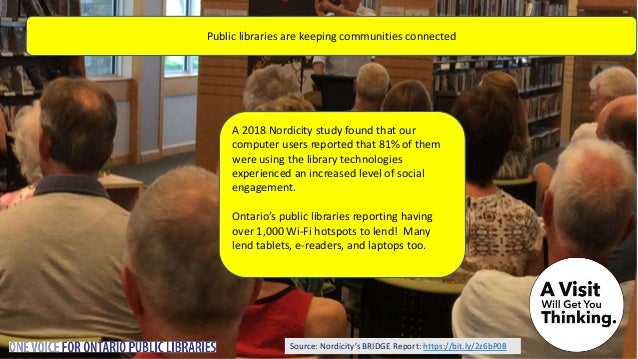 Public libraries are social and keep communities informed Public libraries love social media. Follow your local library on...