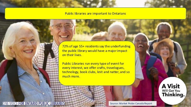 Source: Market Probe Canada Report Public libraries are important because they promote literacy and a love of reading. By ...