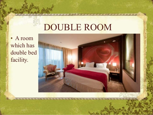 DOUBLE ROOM U2022 A Room Which Has Double Bed Facility.