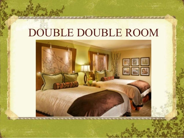 Types of hotel rooms - All in one double bed ...