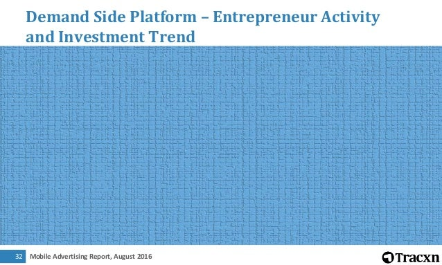 Mobile Advertising Report, August 201633 Demand Side Platform – Most Funded Companies