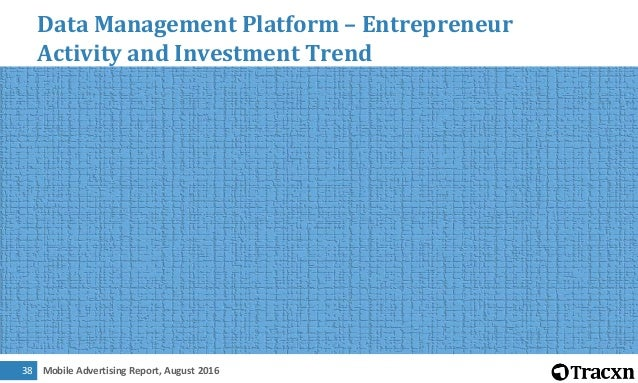 Mobile Advertising Report, August 201639 Data Management Platform – Most Funded Companies