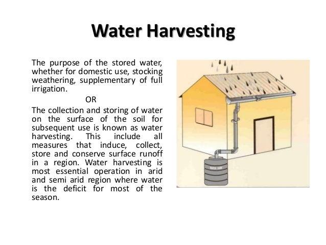 Methods of Water harvesting