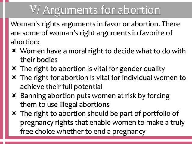 Argument for abortion essay