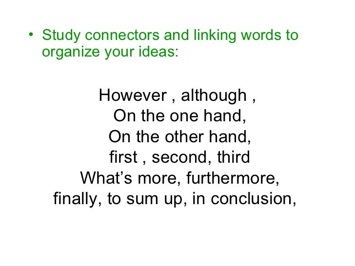 linking words for and against essay