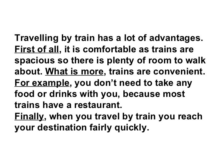 essay on first experience of travelling in a train
