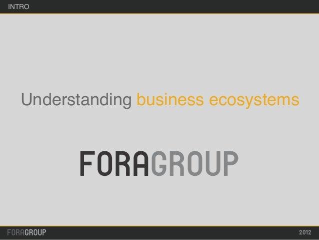 INTRO  Understanding business ecosystems                                  2012