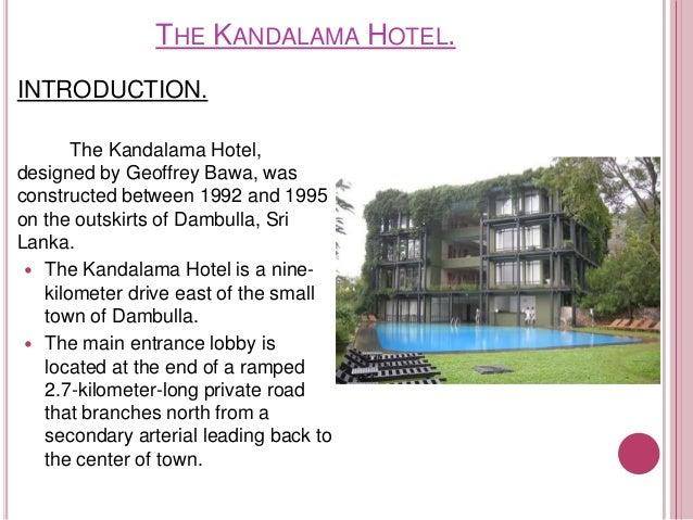 kandalama hotel architecture case study