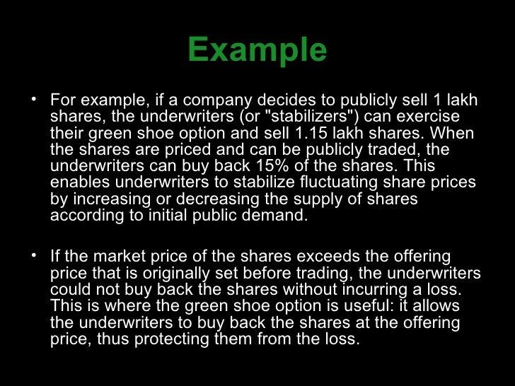 Green-shoe option. Ppt green shoe option green shoe option the.