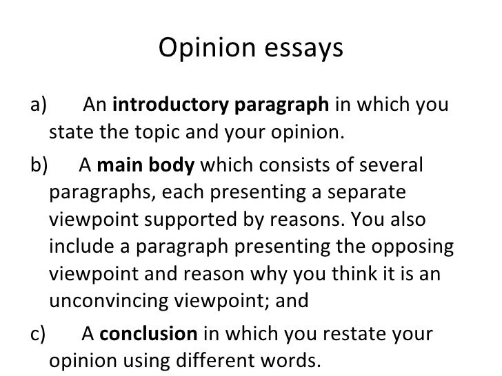 For and against and opinion essays