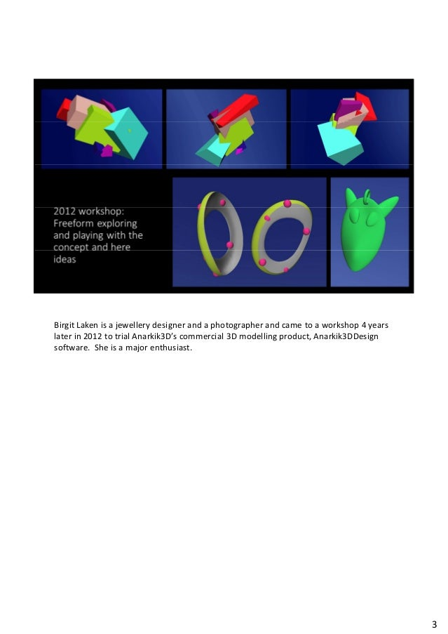 For Art Jewellers - The Antidote to CAD Slide 3