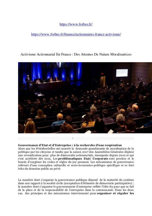 https://www.forbes.fr/ https://www.forbes.fr/finance/actionnaires-france-activisme/ Activisme Actionnarial En France : Des...