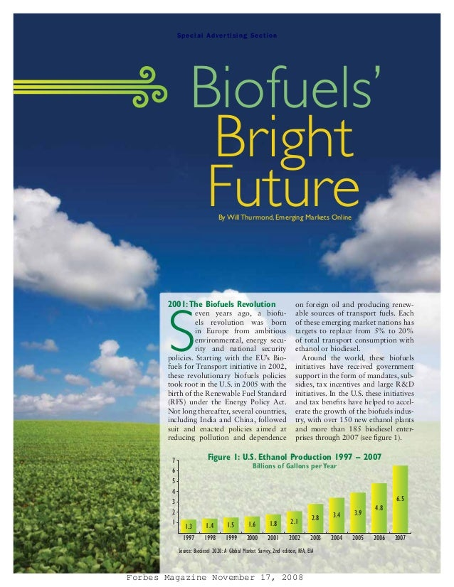 S pe ci al A dv er ti si ng S ecti on                 Biofuels'                  Bright                  Future        By ...