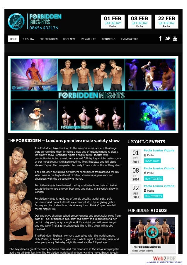 01 FEB  THE SHOW  THE FORBIDDEN  BOOK NOW  PRIVATE HIRE  22 FEB  SATURDAY  SATURDAY  Pacha  HOME  08 FEB  SATURDAY  Pacha ...