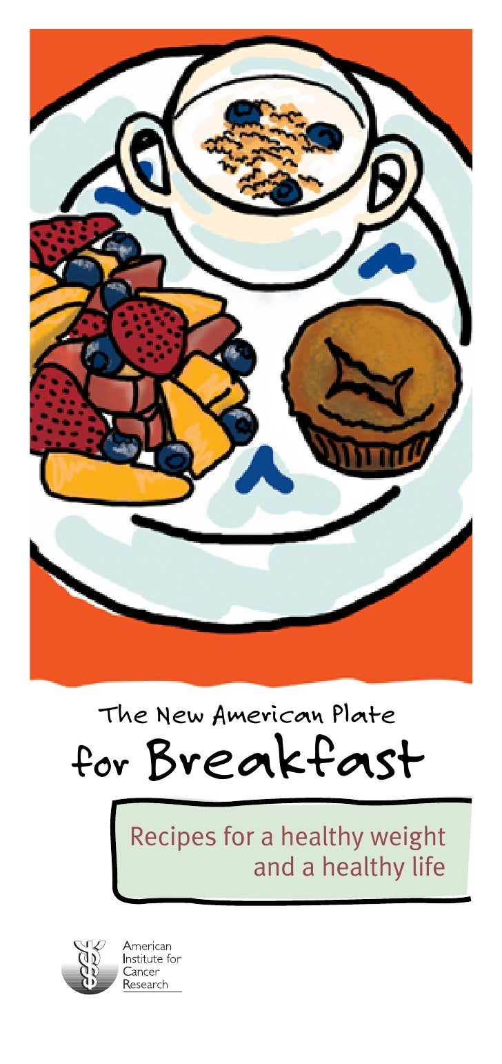 The New American Platefor Breakfast   Recipes for a healthy weight              and a healthy life
