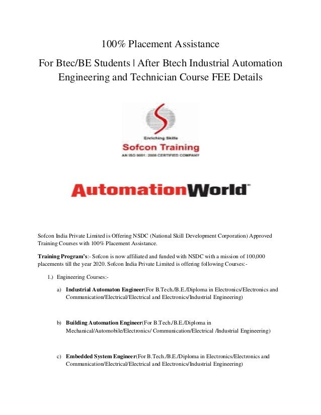 For Btec/BE Students | After Btech Industrial Automation Engineering …