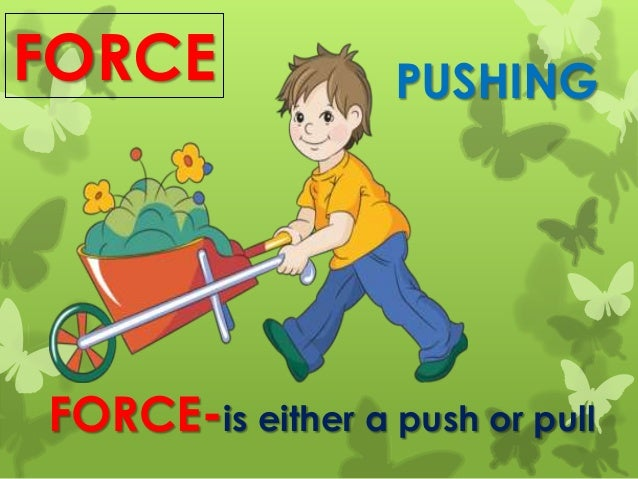 FORCE FORCE-is either a push or pull PUSHING