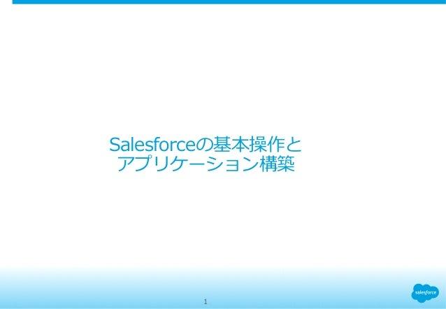 Salesforceの基本操作と アプリケーション構築 1